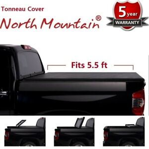 Black Soft Vinyl Lock Roll Up Tonneau Cover Assembly Fit 14 19 Tundra 5 5 Bed