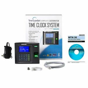 Amano Wi fi Biometric Time Clock Bundle