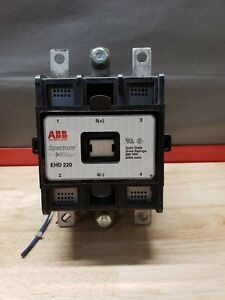 Abb Ehd 220 Spectrum Drive Contactor 220 Amp 600 Vdc Ehd220 used Free Shipping