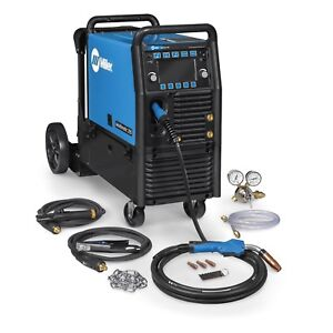 Miller Multimatic 255 Pulsed Multiprocess Welder W running Gear 951767