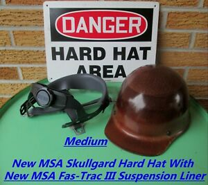 Msa Skullgard Protective Hard Hat With New Msa Fas trac Ii Suspension Liner