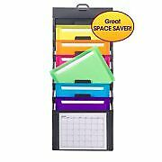 2 Pack Smead Cascading Wall Organizer 6 Pockets Gray bright Letter Size
