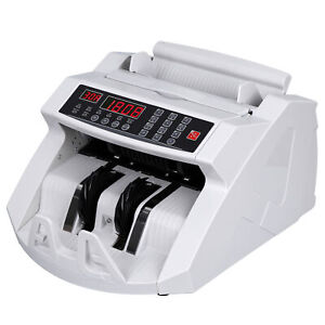 Money Counter Machine Currency Cash Bank Sorter Counterfeit Detection Bill Count
