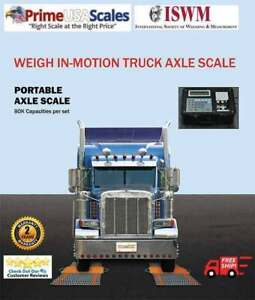 Portable Truck Axle Scales Weigh In Motion 80 000 Lb Drive Across No Stopping