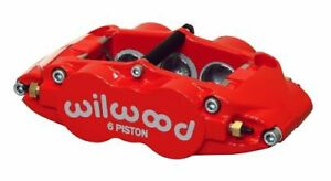 Wilwood 120 11780 Rd Red Brake Caliper Forged Superlite 6 Piston Passenger Side