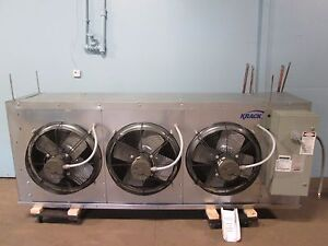 krack Heavy Duty 3 Fans 1 3 Hp 460v 3ph Walk in Cooler freezer Evaporator