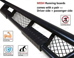 Nissan Frontier Crew Cab Fit 05 18 Mesh Side Step Running Board Rail