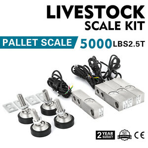 2 5t 5500lbs Livestock Scale Load Cell Kit Simple Set up Load Cells Stable