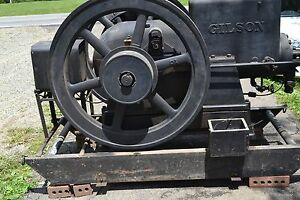 17 1 2 Hp Gilson Hit And Miss Engine With Flat Belt Clutch
