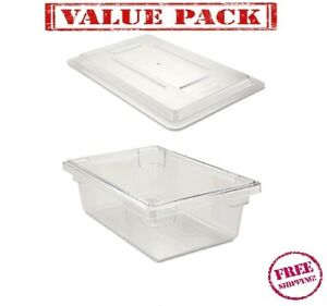 Rubbermaid 3309 3310 Clear Food tote Box Lid 12 X 28 3 5 Gallon Container
