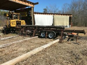 Log Master Lm5 Portable Sawmill 36 Dia X 24 85hp Cummins Hyd Log Loading Arms