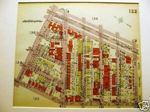 Brooklyn Map 1929 Boro Park Ocean Pkwy 18th Ave Matted