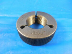 1 18 Usf Thread Ring Gage 1 0 Go Only P d 9639 Quality Inspection Tool
