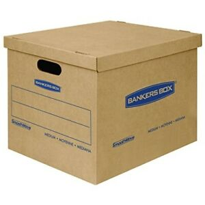 Bankers Box Smoothmove Classic Moving Boxes Tape free Assembly Easy Carry Hand