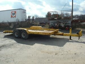 Used 2006 Butler Lt 1418 wl 14k Lb 18 Ft Steel Tilt Deck Tandem Axle Trailer