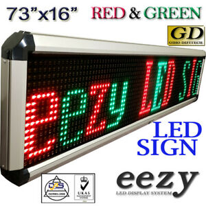 Eezyled Sign 2colors Rg 73 x16 Outdoor Indoor Programmable Message Display Shop