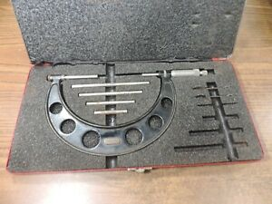 Starrett 224 2 To 6 Outside Micrometer