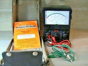 Vintage Tested Simpson 260 xlm Volt ohm milliammeter Multi Meter W Leads