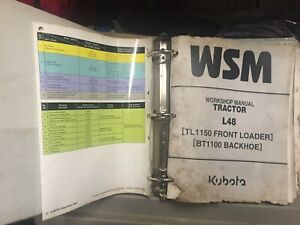 Used Kubota L48 Tractor Loader Backhoe Workshop Service Repair Manual W binder