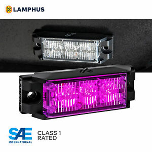 3 5 3w Led Emergency Vehicle Strobe Grille Light Head Police Firefighter Purple