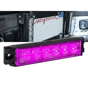 5 25 Led Emergency Vehicle Strobe Grille Light Head Police Firefighter Purple