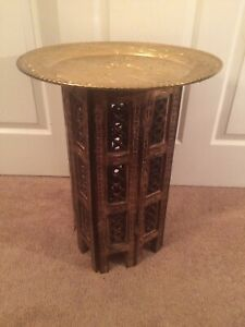 Vintage Wood Coffee Table Asian Style