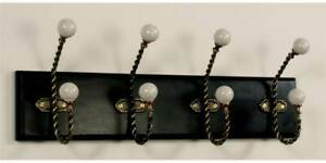 Wall Hanger W 4 Hooks In Antique Black Finish id 21007
