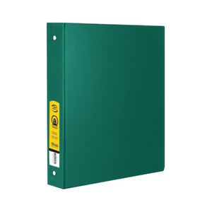 New 402028 1 5 Inch Green 3 Ring Binder W 2 Pockets 12 pack Binders