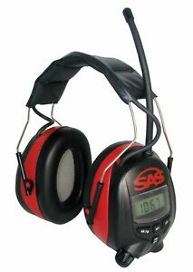Sas Safety 6108 Digital Earmuff Hearing Protection With Am fm Radio And M New
