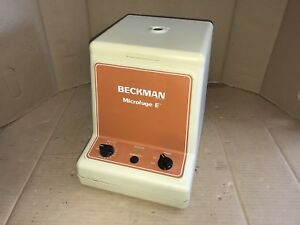 Beckman Microfuge E Centrifuge Fully Functional