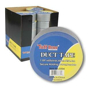 New 213491 Duct Tape 1 89 x60yd Silver 24 pack Action Wholesale Discount Bulk