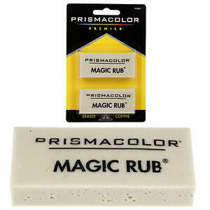 New 205505 Prismacolor 2pk Magic Rub Erasers 36 pack School Supplies