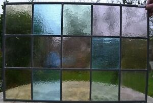 48 X 71cm Traditional Stained Glass Window Panel Newly Made R131k