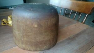 Antique Primitive Millinery Wood Hat Mold Or Form 7 1 8 Awesome Old Patina