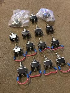 Vintage Lot Of 15 Mcgill Toggle Switch Switches Trains sl