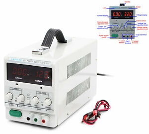 Lavolta Bps305 Variable Linear Adjustable Lab Dc Bench Power Supply 30v 5a Usa