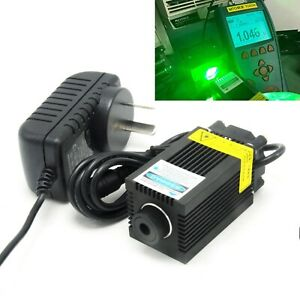 520nm 1w Focusable Dot Laser Module Engraving Green 1000mw Diode 12v Adapter