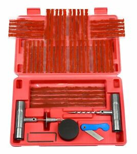 57pc Tire Repair Kit Dihy Flat Tire Repair Car Truck Motorcycle Home Plug Patch
