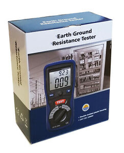 Cem Dt 5300 Digital Earth Ground Resistance Tester Ohm Dc Ac Volt Meter W Bag