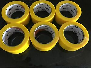 6 X Duck 240304 Commercial Grade Packaging Tape 1 88 x109 3 Yds 1 9 Mil Yellow