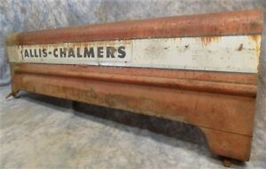 Allis Chalmers Hood Engine Cover Vintage Farm Tractor Parts Sign Steampunk C