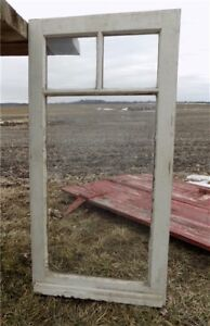 Old Wood Transom Window Glass Pane Vintage Architectural Salvage 35 5 X 18 A31