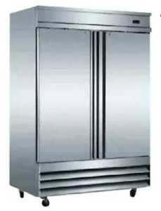 Alamo Cfd 2rr e 46cf Commercial 2 door Stainless Reach in Cooler Refrigerator