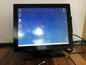Elo Et1517l 15 Touchscreen Pos Led Monitor E999454 With Usb Card Reader Msr