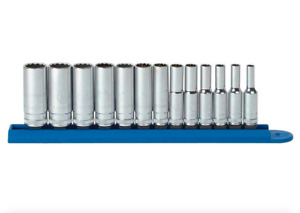Gearwrench 1 4 Inch Drive Metric 12 Point Deep Socket Set 13 Piece Tool Set New