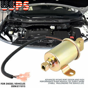 Electric Fuel Oil Transfer Pump For Diesel Vehicles E11015 Golden Us Stock