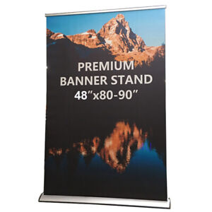 Standard Retractable Roll Up Banner Stand Free Eco friendly Printing 48x80