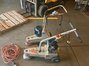 2 Edco Sec 1 5 Electric Walk behind Industrial 7 Floor Grinder Scraper 115v