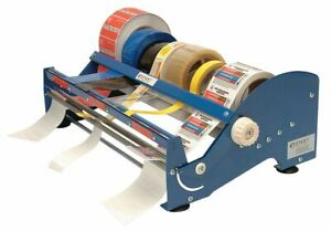 Start International Multi Roll Tape And Label Dispenser Steel And Plastic Blue