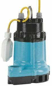 Little Giant 1 2 Hp Sump Pump Wide Angle Float Switch Type Polypropylene Base